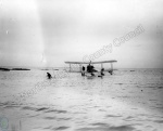 Aircraft lands in sea
